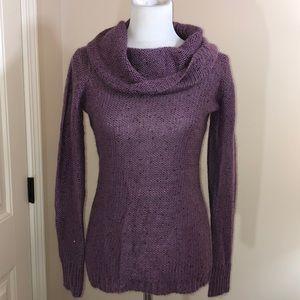Cynthia Rowley gorgeous grape sweater w/ sparkle